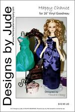 """Happy Chance Doll Clothes Sewing Pattern for 16"""" Vinyl Abjd Goodreau Dolls"""