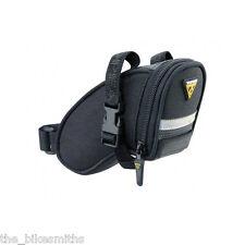 Topeak Micro Aero Wedge TC2471B Bike Seat Bag Black Saddle Pack QR Straps Strap
