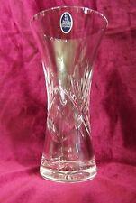 Royal Doulton Cut Crystal Vase w/ original decal label ~ Estate Find ~