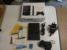 Sony Playstation 2 PS2 Slim Black Console Bundle in box SCPH-70012. Complete!