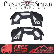 Poison Spyder Vented Front Inner Fender Kit Black PC For 18-20 Jeep Wrangler JL
