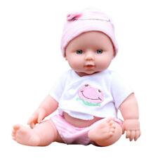 Babypuppe 30cm Mädchen Kinder Baby Weichkörperpuppe Spielzeug Geschenk Rosa