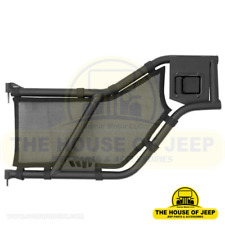 Rear Tube Door Mesh Covers; 2007-2018 Jeep Wrangler Unlimited JK