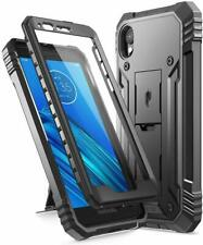 For Motorola Moto E6 Phone Case,Poetic Dual Layer Shockproof Kick-stand Cover