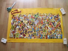 The Simpsons Characters Cast 34 00004000  x 22 poster 2000 Scorpio Brooklyn Ny A.521
