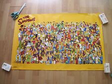 The Simpsons Characters Cast 34 x 22 poster 2000 Scorpio Brooklyn NY A.521