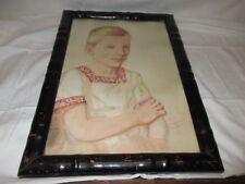26.8.1921 sign. HOFFMANN / aquarellierte Kreidezeichnung : Alexis : Hansa Haus