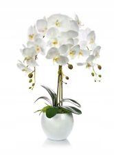 Künstliche Orchidee Kunstblumen Kunstpflanze Gesteck Weiß gesamt. H:60cm  5