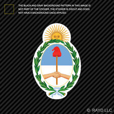 Argentine Coat of Arms Sticker Decal Self Adhesive Vinyl Argentina flag ARG AR