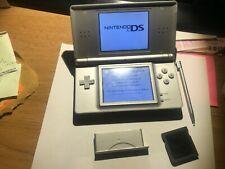 Nintendo DS Lite Metallic Silver Handheld System Console + R4