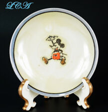 2 vintage MICKEY - MINNIE MOUSE small china / porcelain MADE in JAPAN saucers