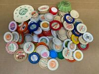 Vintage Milk Bottle Cap Lot of 90