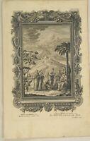 WEIN Weintrauben Original Kupferstich um 1730 Winzer WEINLESE Weinberg Erntedank