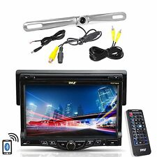 "Farenheit 6.2"" LCD Bluetooth 2-DIN GPS Receiver, Pyle Rear Back Up Camera"