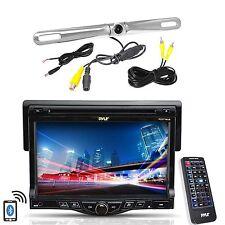 "Pyle 7"" LCD Monitor Bluetooth CD Mp3 Radio, Pyle Zinc Metal Rear Back Up Camera"