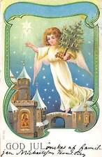 God Jul Christmas Tree, Angel Girl Child Cherub, Night Stars