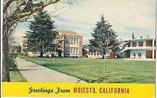 Greetings from MODESTO Junior College CALIFORNIA Postcard CA University Campus