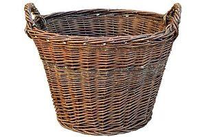 Kartoffelkorb Ø 50cm Weidenkorb Erntekorb Kaminholzkorb Obstkorb Füllkorb Kiepe