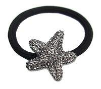 Ella Jonte Haargummi Seestern schwarz oder silber Glitzer Zopfgummi Starfish