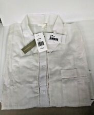NWT SKIN Sleep Button Down Shirt Dress Pajama loungewear pjs Ivory SIZE 3 da2a63397
