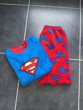 Boys Fleece Pyjamas Superman 11-12 Yrs