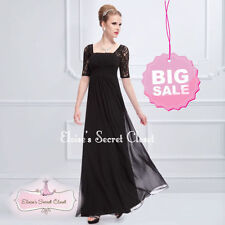 Lace Square Neck Short Sleeve Formal Dresses for Women
