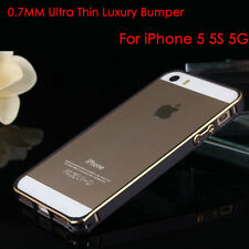 For Apple iPhone 5S 5 Aluminium Bumper Frame Hard Case Cover Clear Black Gold