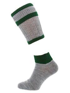 Schuhmacher Loferl Wadenstrümpfe CS506 grau grün