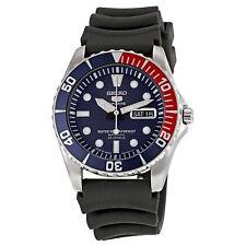 Seiko 5 Sports SNZF15 J2 Red & Blue Bezel Black Dial Automatic Analog Mens Watch