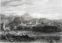 Greece, KARDAMYLI Kardamyle Cardamyle Kardhamili Kardamyl ~ 1829 Engraving Print