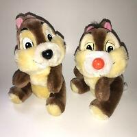2 Vintage Chip Dale Chipmunks Disneyland Walt Disney World Plush Stuffed Animals