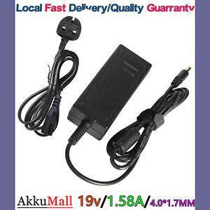 For HP Mini 110 210 1000 10.1 Netbook Adapter Power 19V 1.58A + UK Charger Cord