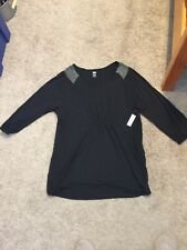 Old Navy Maternity Black Tunic Top/shirt - Size XXL