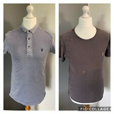 Men's Size Small ⭐️ 2 x All Saints Summer 100% Cotton Short Sleeve Polo T Shirts
