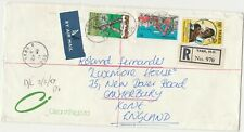 Nigeria 1987 Registered Cover from Yaba to UK