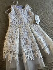 BNWT Little Miss Gorgeous White Lace Dress, Age 4, Wedding Christening Party