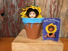 Anne Geddes Baby Sunflower in Flower Pot 1999