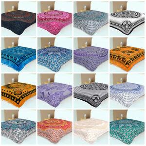 Indian Mandala Bedding Bedspread Coverlet Blanket Tapestry Wall Hanging Throw