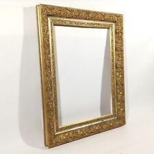 91 x 70cm pintura marco de fotos ANTIGUO Frame Barroco Rococó Arte oro