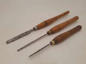 Mixed Bundle of 3 Woodturning Tools 2 x Scrapers & 1 x Gouge 34388
