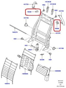 GENUINE LAND ROVER FCL500192SMS MOLDING - LF Seat Back 2005-2009 LR3/Discovery 3