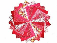 """40 5"""" Quilting Fabric Squares Pretty Hot and Spicey Reds 2/ Beautiful!"""