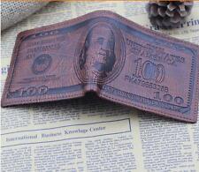 Stylish Men's Bifold Leather Wallet US Dollar Bill Credit Card Holder Purse JJ