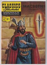 """UK Classics Illustrated #4 """"William Shakespeare - Macbeth"""" 1950's"""
