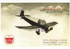 Reproduction publicité vintage JODEL D112 GRAND TOURISME