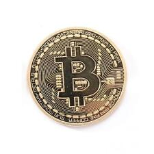 Gold Plated Physical Bitcoin Casascius Bit Coin BTC w/ Case Gift Decoration 1 OZ