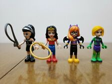 Lego Dc Super Heroes Girls Lot Of 4 Mini Dolls Batgirl Wonder Woman Luther