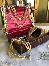 Vintage Farrington RETRO Genuine Texol Jewelry Trinket Box Burgundy Brown