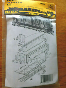 Central Valley HO #1001 (40' Stock Car Kit) Plastic (NEW PRODUCT) 1:87th Scale