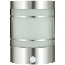 Edelstahl Wand-außenleuchte mit Bewegungsmelder Echtglas Wandlampe Hoflampe